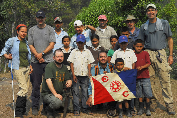 Robert Hyman, right, with members of the Honduran Biodiversity Expedition.