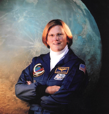 First American woman to walk in space.