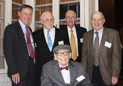 Bob Simpson with (from left) Neil Frank, Jack Williams, Max Mayfield, David Atlas. Photo by Darlene Shields