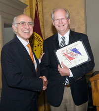 ECWG Chair Jay Kaplan presents Craig Cook a certificate of appreciation after his talk.  Don Gerson photo