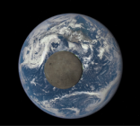 From a Million Miles Away, a joint NASA, NOAA, & USAF project: Moon Crossing Face of Earth.